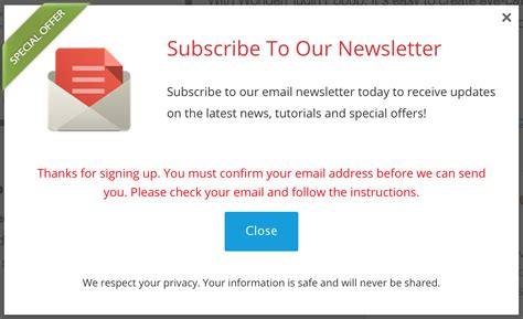 Wordpress Popup Plugin For Email Signup Form Wordpress Plugin Thank You For Signing Up Email Template
