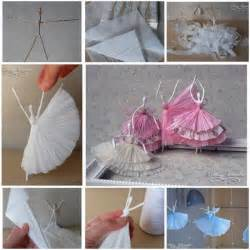 Craft Ideas For With Paper Step By Step - how to make paper napkin ballerinas recycled crafts