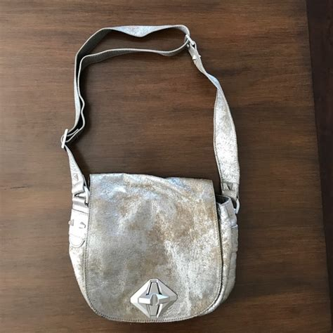 7 For All Mankind Handbag by 83 7 For All Mankind Handbags Metallic Silver 7 For