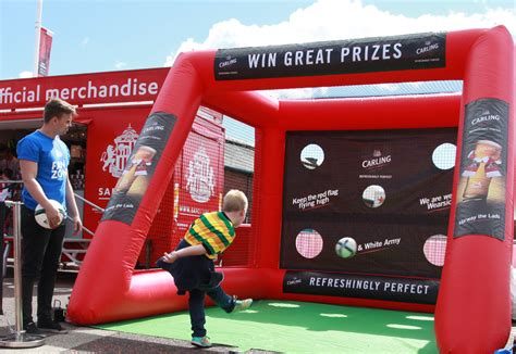 the sports fan zone shoot out football sports inflatable sales shoot4goal