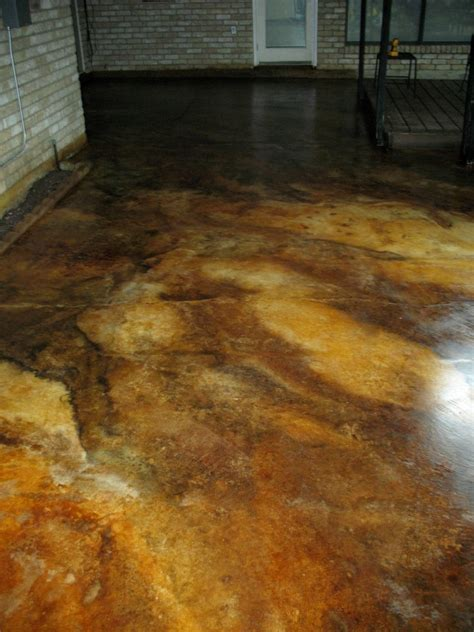 acid stain concrete colors marbled acid stain patio