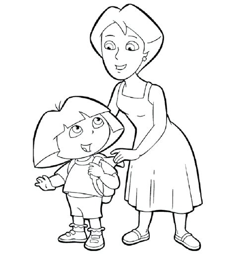 Dora The Explorer Coloring Pages Coloring Part 2 Coloring Pages The Explorer