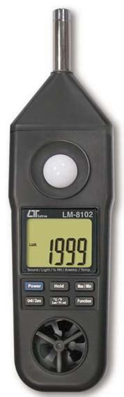 Lm 8102 5 In 1 Meter Anemometer Humidity Light Sound Temp Meter anemometer lutron lm 8102 anemometer lutron anemometer