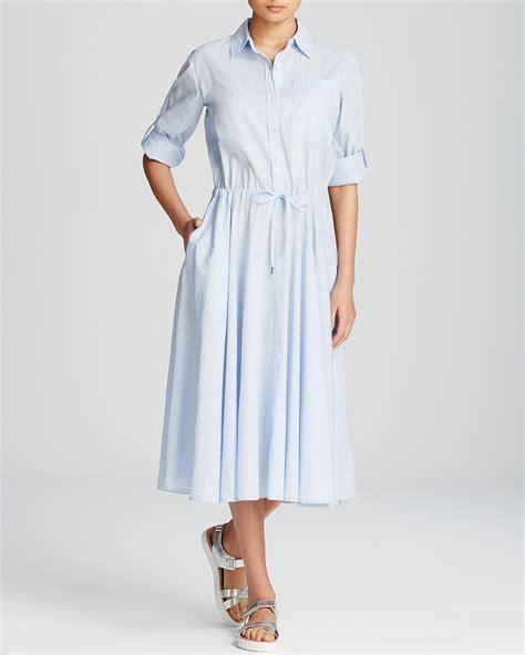 Id Belt Midi Dress Blue dkny midi shirt dress bloomingdale s