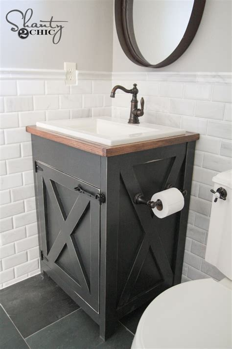 building a bathroom vanity cabinet diy farmhouse bathroom vanity shanty 2 chic