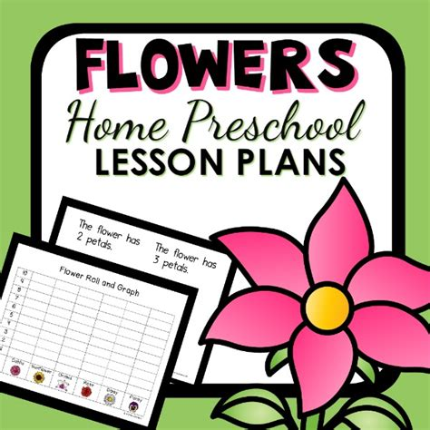 flower theme home preschool lesson plans home preschool 101