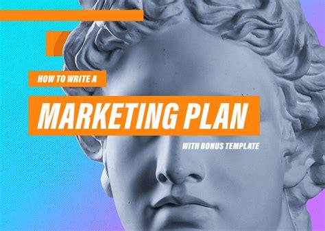 write  marketing plan wsample templates