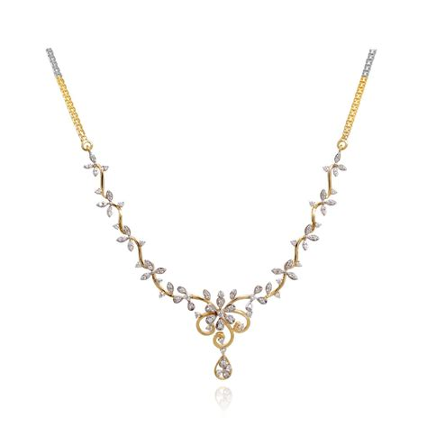 try it aster floral design necklace grt