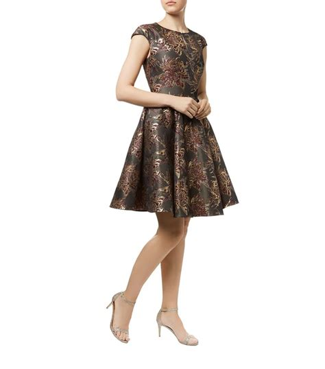 Dress Jacquard Gown 9 ted baker laurey floral jacquard dress in blue lyst