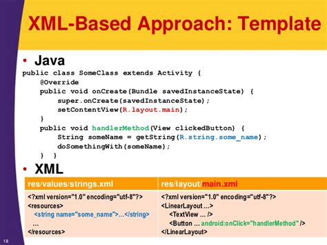 tutorial xml java android tutorial android programming basics xml java