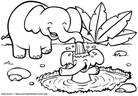 free coloring pages of jungle animals preschool 1188