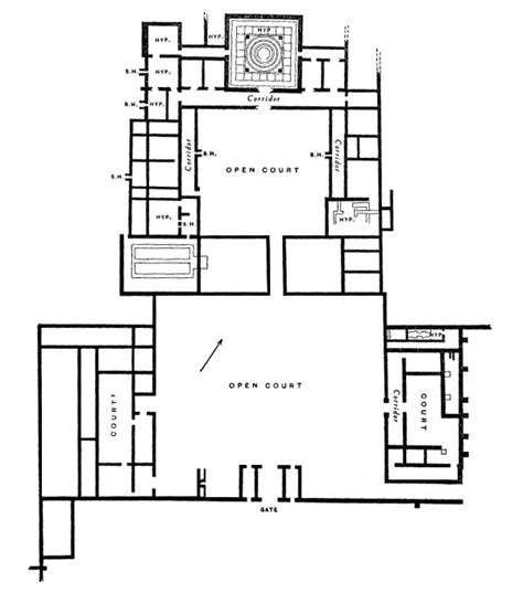 roman villa house plans plan of woodchester roman villa a wasted land pinterest
