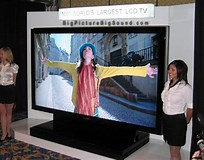Image result for largest lcd tv screen. Size: 204 x 160. Source: www.bigpicturebigsound.com