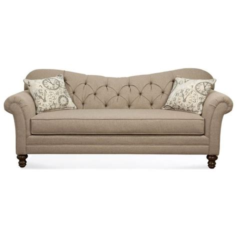 couch sofa hughes furniture 8750 sofa with diamond tufted back