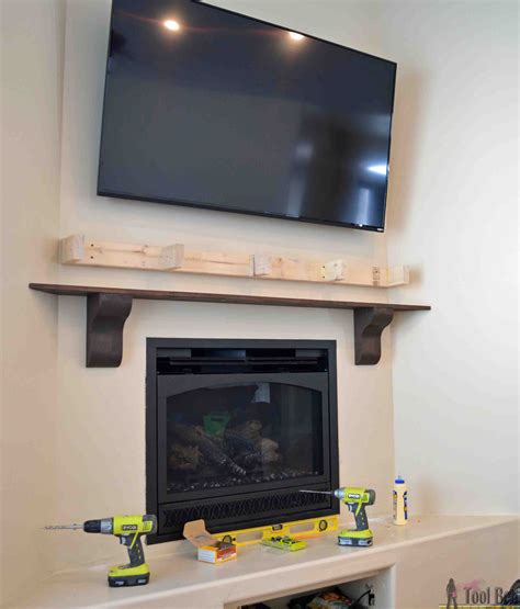 Diy Fireplace by Diy Fireplace Mantel Shelf Tool Belt
