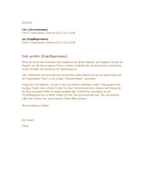 Formeller Brief Schweiz Vorlage Formeller Gesch 228 Ftsbrief Office Templates