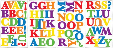 Wall Sticker Colorful Numbers numbers alphabet wall stickers peel and stick