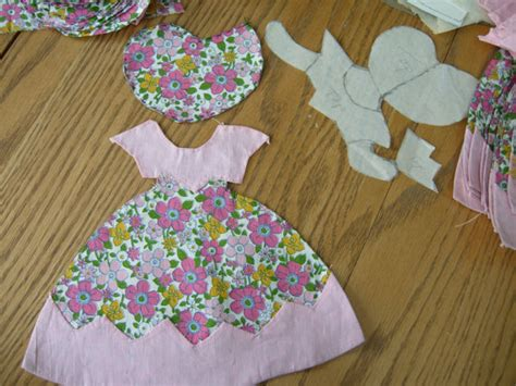 sunbonnet sue quilt pieces and pattern