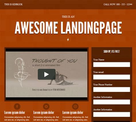 40 most useful landing page templates themescompany