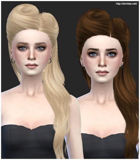 sims 4 cc hair bows hairstylegalleries com david hair 21 retexture simista a little sims 4 site