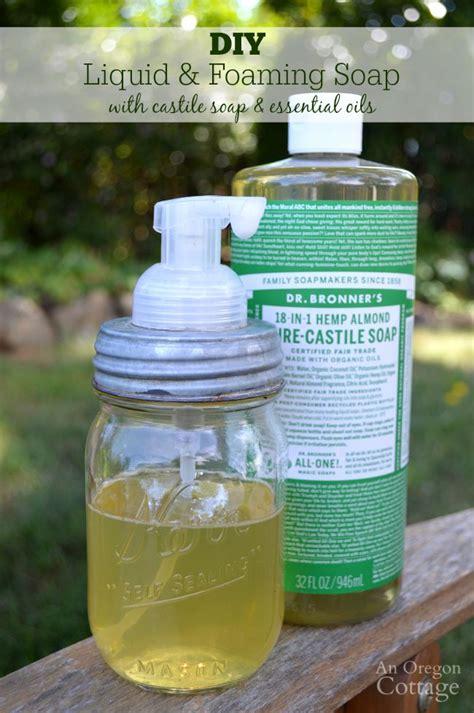 Handmade Liquid Soap Recipe - diy liquid foaming soap
