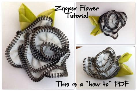 pattern zip flower zipper flower tutorial instant download how to by