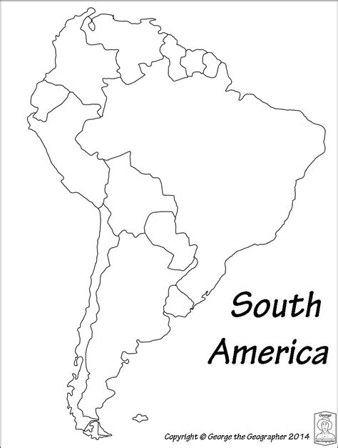 South And America Map Outline by Outline Map Of South America Roundtripticket Me