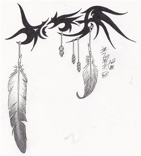 tribal eagle feather design by syrazel deviantart