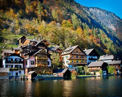 lake side houses hallstatt lakeside homes photograph by david waldo