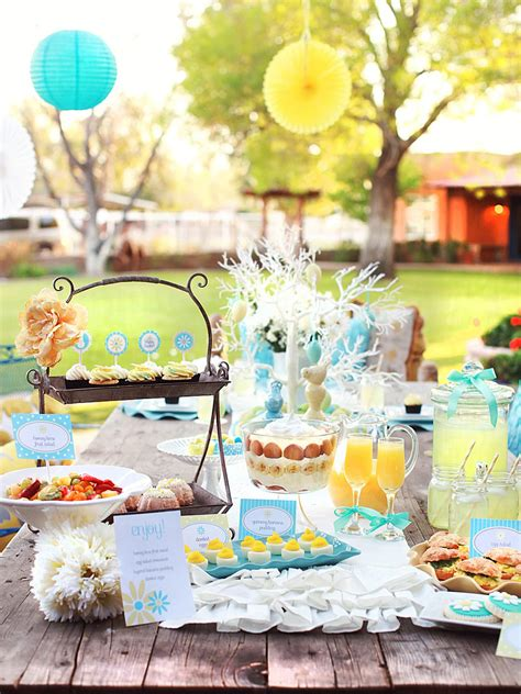 easter themes pictures charming yellow and blue easter brunch entertaining