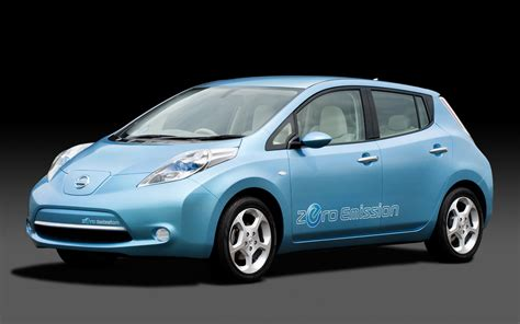 nissan leaf electric car imgstocks