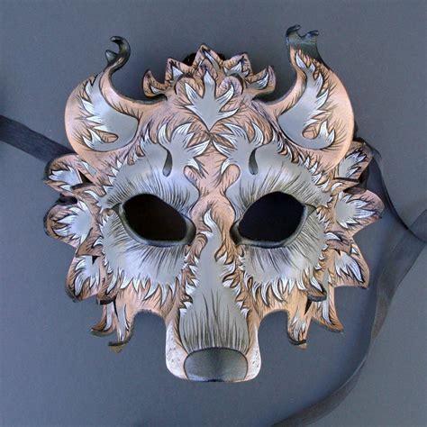 Mask Handmade - custom wolf mask handmade leather mask made to