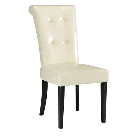 home decorators dining chairs home decorators collection taylor cream bonded leather