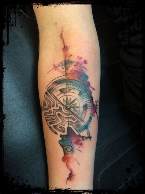 watercolor tattoo germany the 25 best labyrinth ideas on