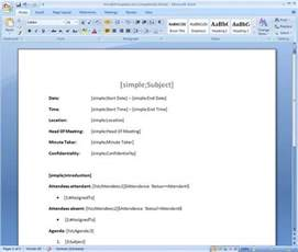 Meeting Minutes Template Microsoft Word by New Sharepoint Meeting Manager With Template Based Meeting