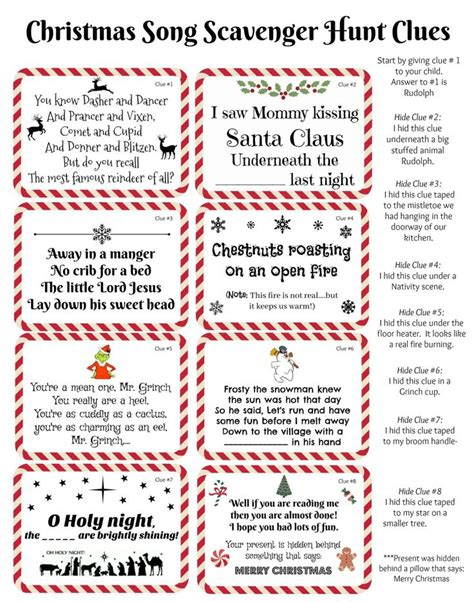 1000 ideas about christmas scavenger hunt on pinterest