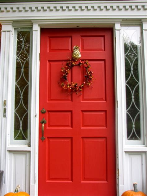 red front doors what exterior paint colors go with a red front door