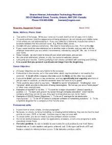 canadian style resume and cover letter canada resume format it resume cover letter sle