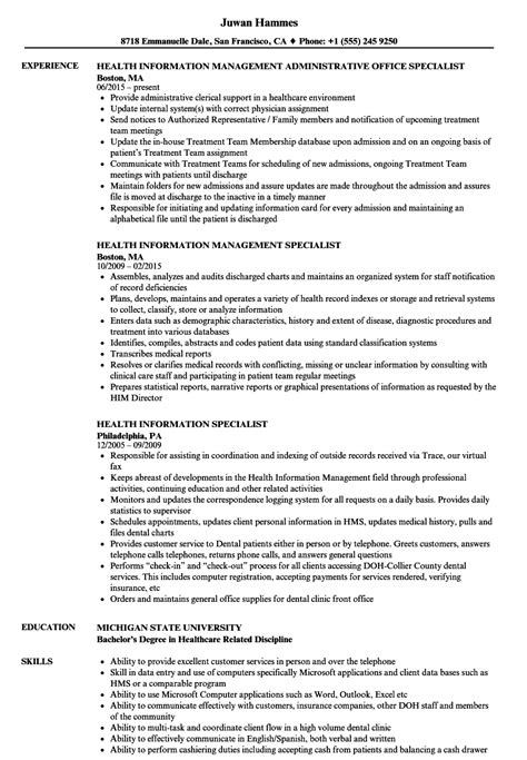 Him Specialist Cover Letter by Him Specialist Sle Resume Birthday Invitation Sles