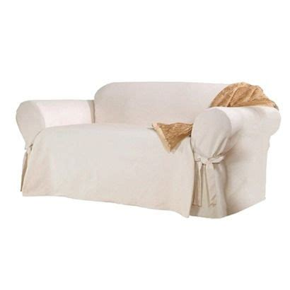 cotton duck sofa skirted slipcover sure fit cotton duck slipcover for the couch to brighten