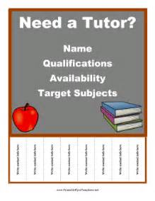 Free Tutoring Flyer Template by Tutor Flyer
