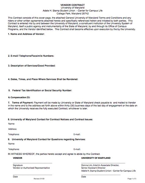event vendor contract template vendor cultural contracts