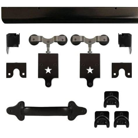 Heavy Duty Star Black Rolling Barn Door Hardware Kit Rolling Barn Door Hardware Kit