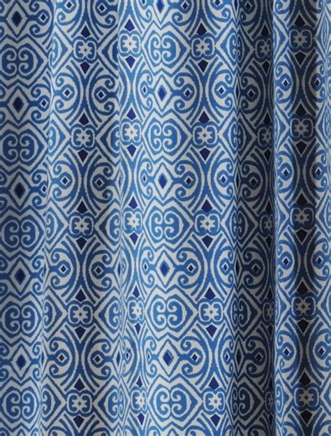blue pattern valance blue white patterned curtains classic linen pinterest