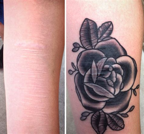 tattoos to cover up self harm scars artist does free tattoos for survivors of domestic