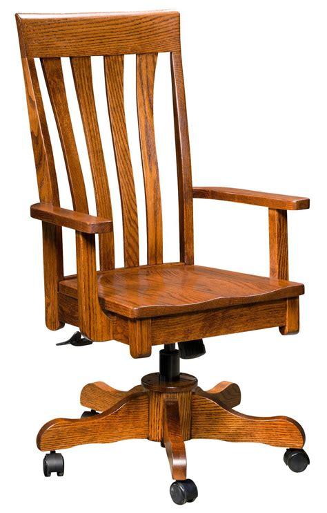 Amish Desk Chair by Canterbury Desk Chair With Gas Lift From Dutchcrafters