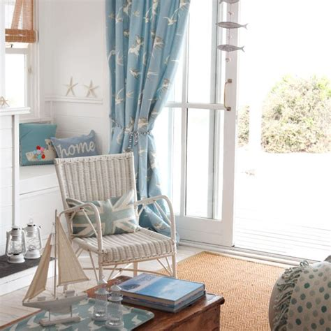 seaside living rooms seaside living room living room designs patterned curtains housetohome co uk