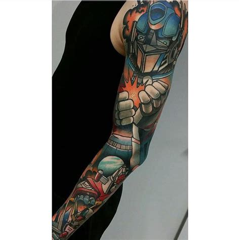 transformer tattoo transformers sleeve best ideas gallery
