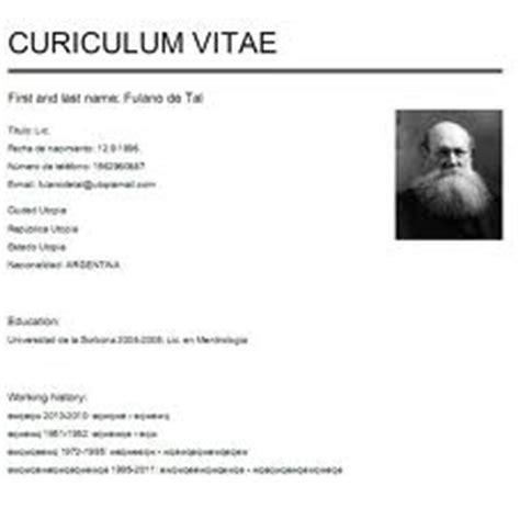 Modelo Curriculum Vitae Français D 233 Finition De Curriculum Concept Et Sens