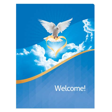 welcome template church welcome folders invitations ideas